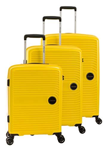 Juego de Maletas de viaje amarillas, 79 cm, 112 Liters