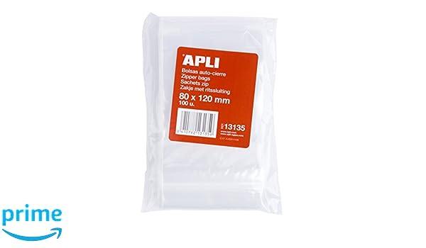 APLI 13130/ confezione da 100/pezzi 160/x 220/mm /Sacchetti richiudibili