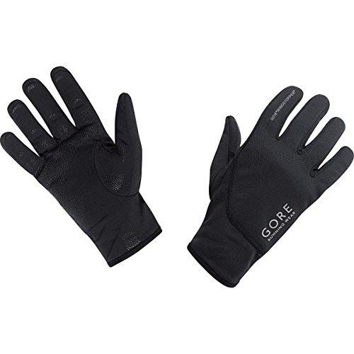 Gore running wear, guanti corsa uomo, antivento, gore windstopper, essential ws, taglia 9, nero, gwesse990007
