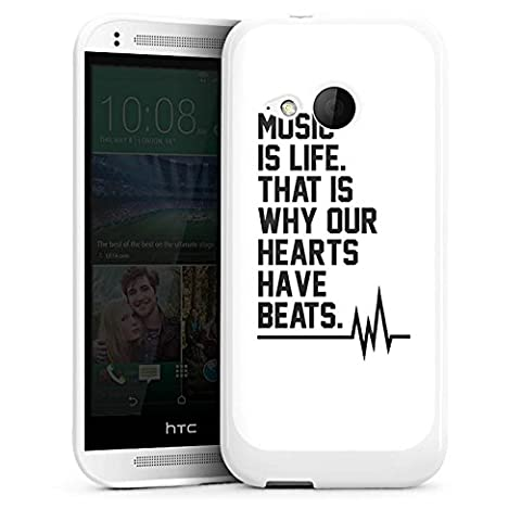 HTC One mini 2 Hülle Silikon Case Schutz Cover Music Musik Sprüche