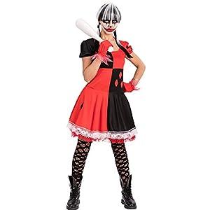 Carnival Toys 82091Payaso Girl Horror Disfraz con Guantes, tamaño S/M
