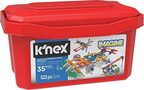 K'nex- Click and Construct Value Juguetes, Multicolor, 522 Pieces (35043)