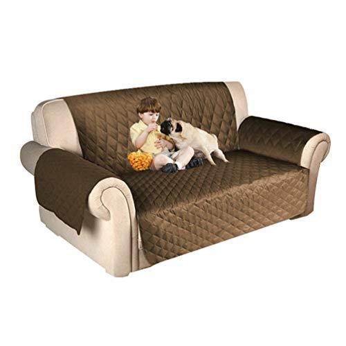 TianBin Copridivano Trapuntato per Animale Domestico Impermeabile Divano Protector per Cani/Gatti Letto Anti-graffio e Antifouling (Luce Marrone#2, 116 * 188cm)