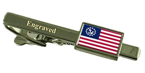 Yachtcharter Ensign zivilen USA Krawattenklammer graviert im Beutel