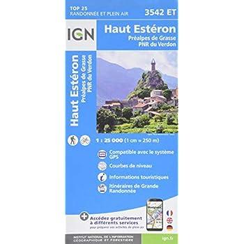 Haut Estéron, Préalpes de Grasse, PNR du Verdon : 1/25 000