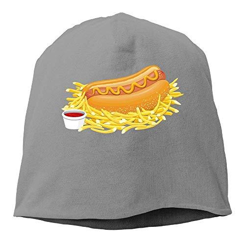 Beanie Hat Baseball Cap Male/Female Hot Dog Cotton Skull Cap 08909 -