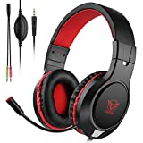 Xbox Headset for PS4,DIZA100 Gaming Headset Audio Stereo Bass with Microphone,Lightweight Headphone Compatible