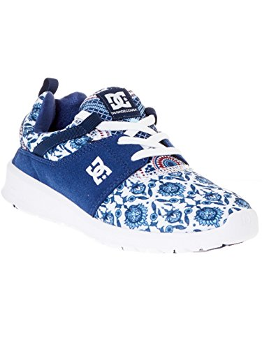 DC Shoes Heathrow Se J, Baskets Basses femme Blue Print