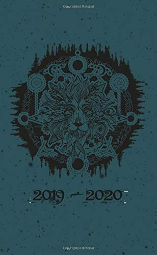 2019 - 2020: Two Year Monthly Pocket Planner | Mystic Lion And Carp por Pretty Planners