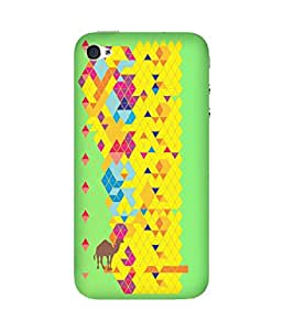 Stripes And Elephant Print-50 Apple iPhone 4/4S Case