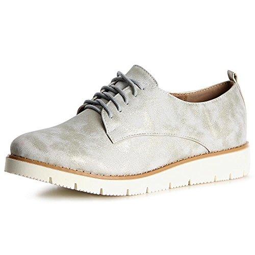 topschuhe24, Sneaker donna Argento