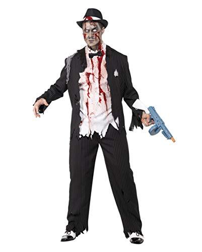 Horror-Shop Zombie Gangster Kostüm Halloween Kostüm Herren 3-Teilig Jacke, Hose, Shirt Auch für Karneval - L