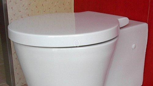 Duravit WC Sitz passt nur zu Starck 1 mit SoftClose Scharniere edelstahl, weiß 0065880000