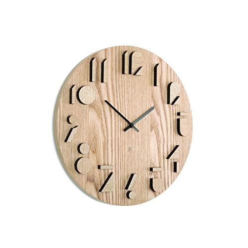 Umbra 118080-390, orologio da parete in legno naturale, neutro
