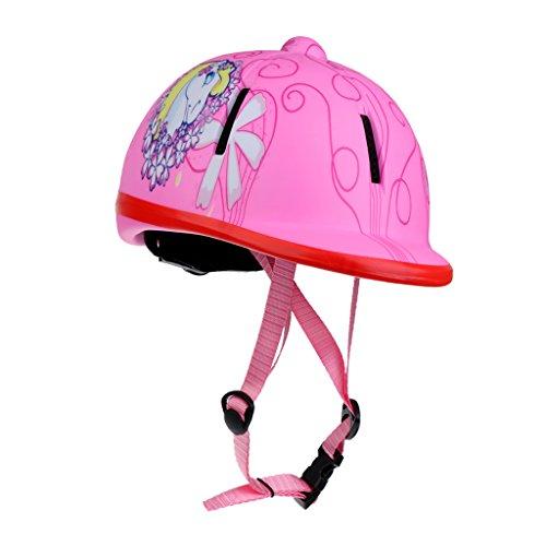 perfeclan Kinder Sicherheitshelm Reithelm Reithut Verstellbar Reitkappe Sicherheitsschutzhelm für Mädchen - Schnee Rosa