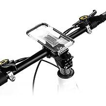 Multi-función Funda Móvil Bicicleta para iPhone 7, iPhone 6s, iPhone 6, GVDV Soporte Movil para la potencia de bici, MTB y Moto con Ángulo Visual Ajustable, Base Metálica y Funda Silicona Transparente