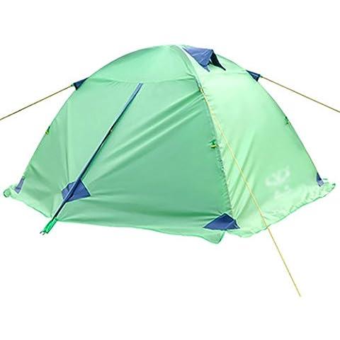 Al aire libre a prueba de lluvia Doble poste de aluminio tienda de campaña de invierno de la nieve de la falda de 2,5 kg ( Color : Verde )