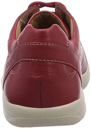 Ganter BAREFOOT-Women, Weite G, Derbies à lacets femme Rouge - Rot (rosso 4100)