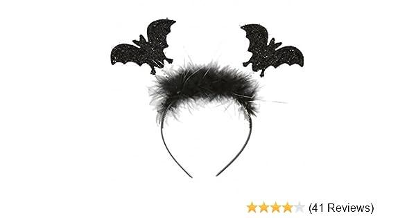 Girls Fancy Dress Halloween Party Accessory Flying Bat Boppers Headband