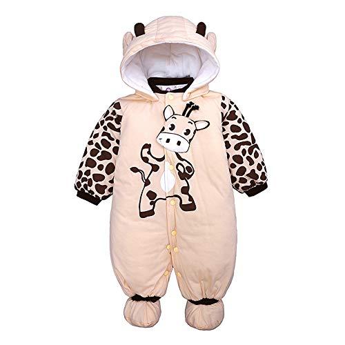 Heecaka Neugeborenen Unisex Baby Winter Overall mit Kapuze Strampler Fleece Schneeanzug