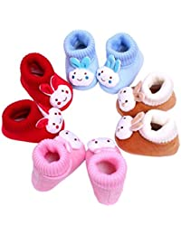 kezle Baby's Cotton Multicolour Teddy Style Shoes (0-12 Months) -1 Pair