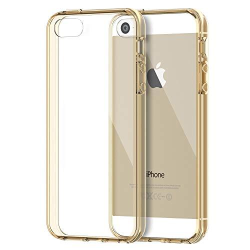 JETech Hülle für iPhone SE, iPhone 5s und iPhone 5, Schutzhülle Anti-kratzt Transparente Rückseiteülle, Schwarz - Case 5 Bumper Iphone Schwarz