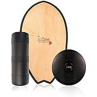 JUCKER HAWAII Balance Board Homerider Surf - Tabla de Equilibrio Balance Trainer Set Completo con Rodillo y Cojín