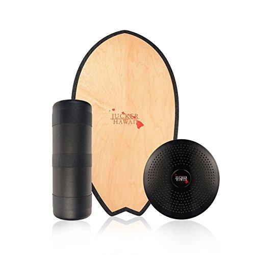 JUCKER HAWAII Balance Board Komplettset Homerider SURF - Inklusive Balanceboard Rolle und Balance Kissen