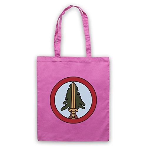 Inspiriert durch Twin Peaks Bookhouse Boys Badge Inoffiziell Umhangetaschen Rosa