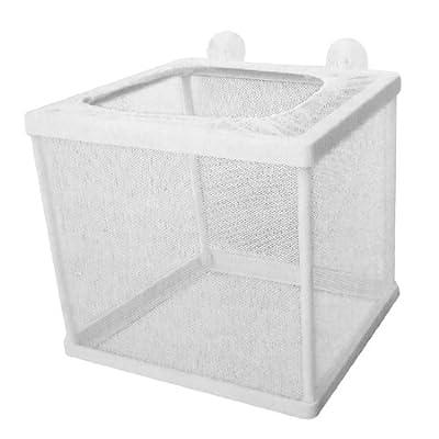 Sourcingmap Netz-Ablaichkasten für Aquarien, Kunststoff-Rahmen, Weiß