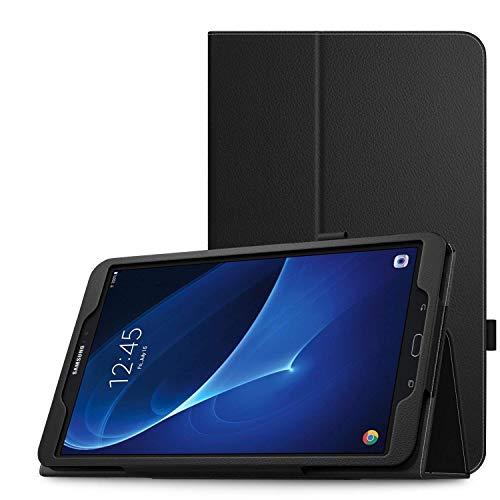 MoKo Schutzhülle für Samsung Galaxy Tab A 10.1 (SM-T580 / SM-T585, mit automatischer Aufwach-/Schlafmodus), Schwarz