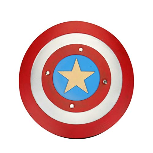 QWEASZER Infinity Wars Captain America Armschild - PVC Captain America Classic Round Shield Avengers Marvel - Latex,B-OneSize