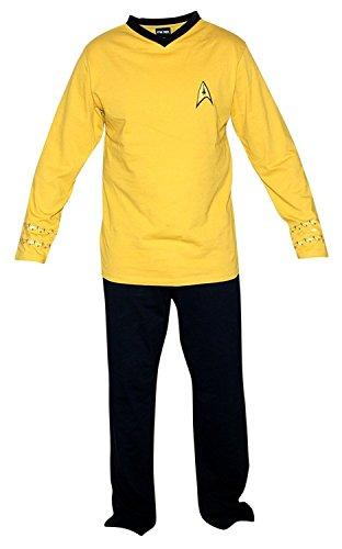 Star Trek Herren Gold Uniform Union Suit