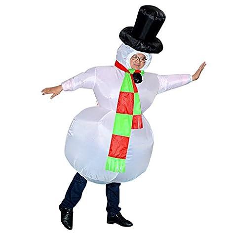 Snowman Gonflable - MagiDeal Adulte Costume Gonflable de Bonhomme de