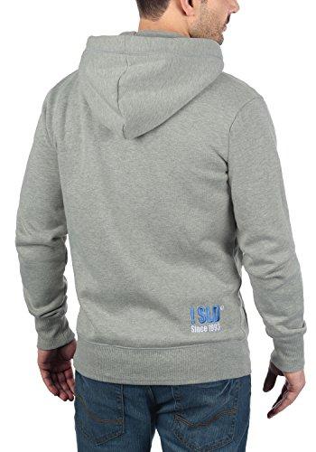 !Solid BennZip Herren Sweatjacke Kapuzenjacke Hoodie Mit Kapuze Reißverschluss und Fleece-Innenseite, Größe:3XL, Farbe:Light Grey Melange (8242) - 3