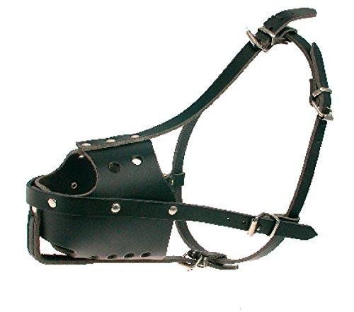 Zolux Police Adjustable Leather Muzzle Fits German Shepherds Black T6