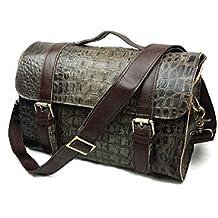 otomoll hecho a mano Vintage Messenger Bag bolso de piel auténtica _ Fashion Laptop Messenger Bag hombro Messenger