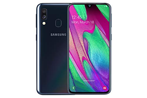 Samsung Galaxy A40 64 GB 5.9-Inch FHD+ Android 9 Pie UK Version Dual-SIM Smartphone - Black Best Price and Cheapest
