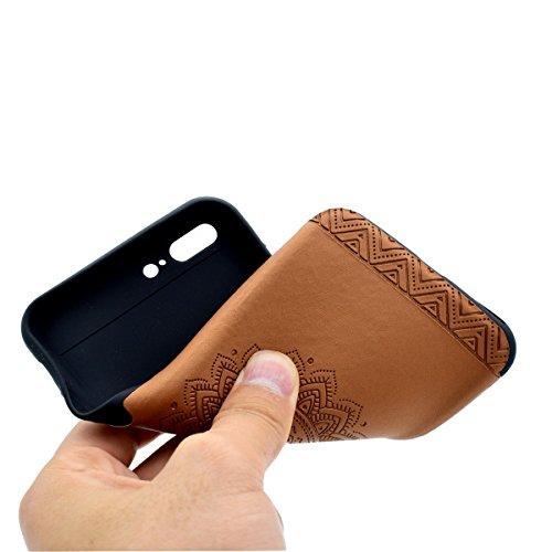 Custodia inShang cover per iPhone 7 Plus 5.5 Cellulare,super slim e leggero TPU materiale Cover posterior stili per iPhone7 Plus 5.5 inch Brown printing