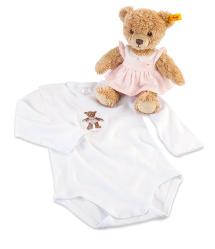 Steiff-25cm-Gift-Set-Includes-Sleep-Well-Bear-Pink