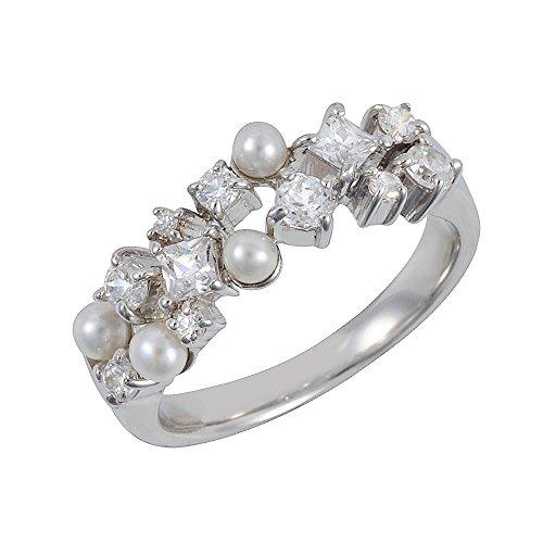Ivy Gems Damen - 925 Sterling-Silber Silber Rundschliff China-Zuchtperle creme Perle Sterling Creme