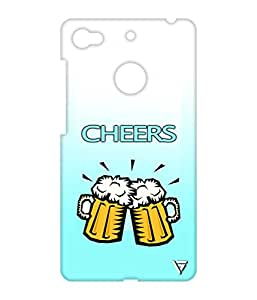 Vogueshell Cheers Printed Symmetry PRO Series Hard Back Case for LeEco Le 1s
