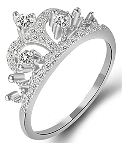 SaySure - Crown Ring 925 Sterling Silver Rings (SIZE : 8)