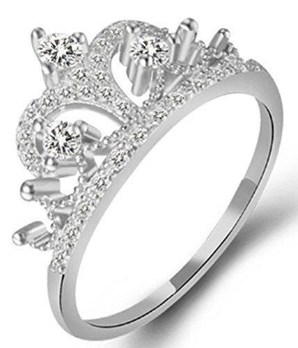 SaySure - Crown Ring 925 Sterling Silver Rings (SIZE : 9)