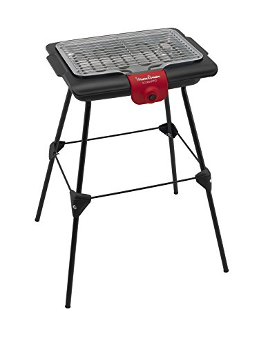 Moulinex BG135811 Accessimo Barbecue Pieds Noir/Rouge 47 x 35,70 x 10,4 cm