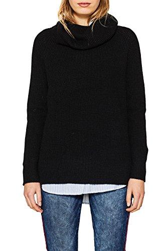 ESPRIT Damen 117EE1I012 Pullover, Mehrfarbig (Black 001), Medium