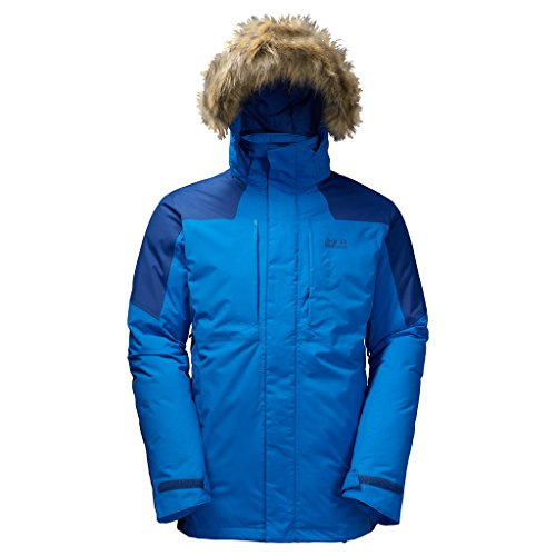 Jack Wolfskin Newfoundland Parka Men - azure blue, Größe XL