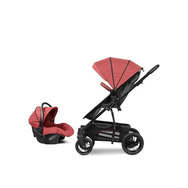 Baby Stroller, High Landscape Baby Doll Stroller, Car Seat Baby Trend Jogging Stroller for Baby Infant Newborn Baby (Color : Gray) AEQ ●SEAT BACK SUPPORT: baby alive stroller seat board, anti-seat surface subsided back board, effectively prevent hunchback, baby stroller fan gives the baby a safe and comfortable seat sleeping basket. ●5+1 SECURITY PROTECTION: for baby stroller five-point seat belt + armrest hatch protection, all-round coverage to protect the baby's key parts, baby pram stroller strictly slip away. ●SUNSCREEN INSULATION LAYER: baby stroller toy through the barrier and reflection dual means, baby strollers to resist UV to reduce the heat. 2