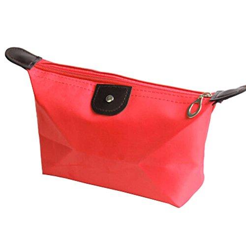 2 PCS Etanche Couleur Rouge Voyage Cosmetic Containers Sacs cosmétiques