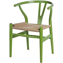 Sessel Stuhl Replik CH24 Y Chair Wishbone Hans Wegner Designer Vetrostyle  Gruen